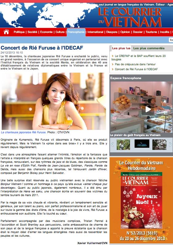 Le Courrier du Vietnam - 24 DEC 2013